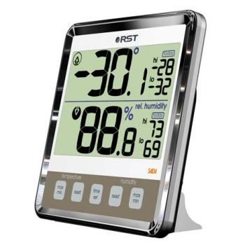 Термогигрометр с большим дисплеем RST02404хром