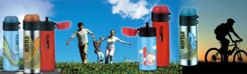 5327603035 Термос-бутылочка Alfi Lillebi Streifen green 0,35 L