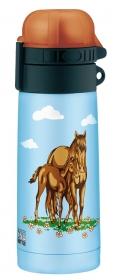 5327640035 Термос-бутылочка Alfi Pferde blue 0,35L
